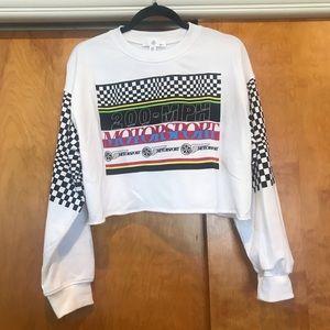 NWOT Missguided Cropped Motorsport Sweatshirt
